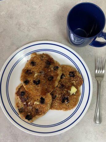 4-blueberry pancakes